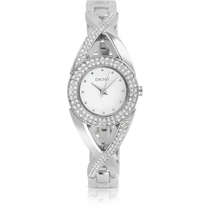 Round Crystal Bezel Watch - DKNY