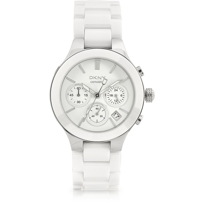 Women's Ceramic Chronograph Watch - DKNY