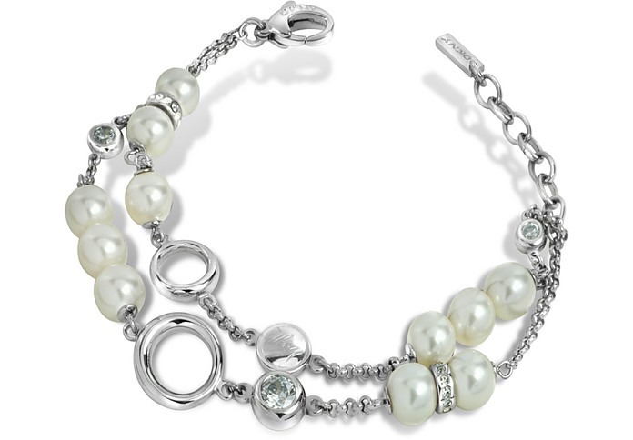 Stainless Steel and Glass Pearl Bracelet - DKNY