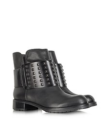 Mara Ankle Biker Boot With Studs