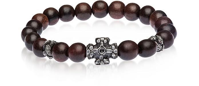 Antique Style Bracelet w/Ebony Beads - Be Unique