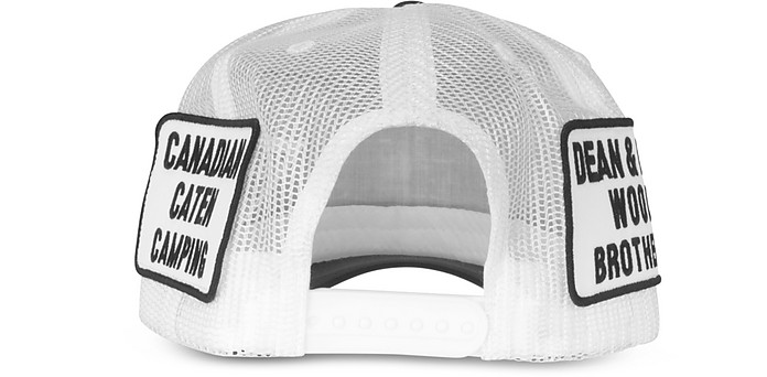 bb3744def21431 Black and White Bad Scout Baseball Cap - DSquared2. Sold Out