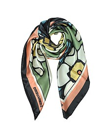 Blossom Halstuch aus bedruckter Seide - DSquared
