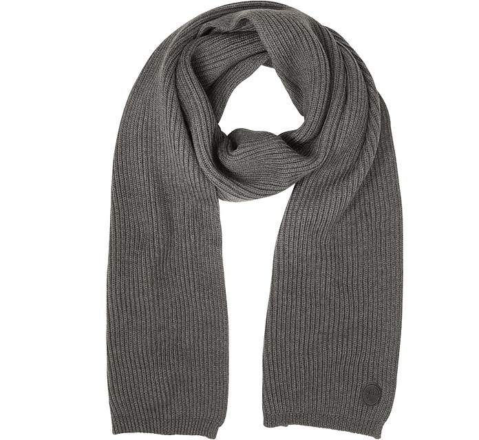 Solid Wool Knit Men's Long Scarf - DSquared2