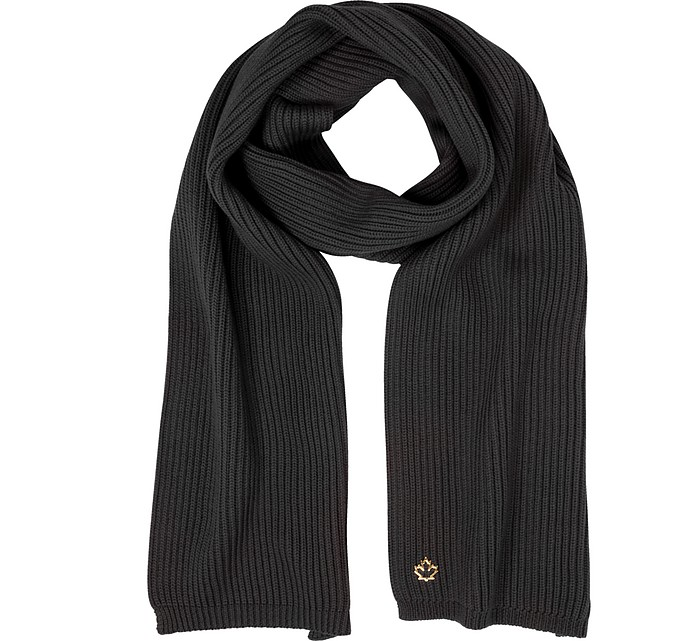 Solid Wool Knit Women's Long Scarf - DSquared2
