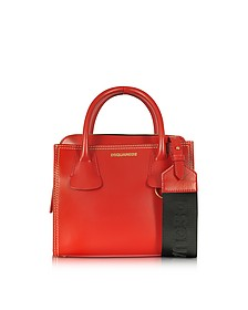 Deana Small Red Leather Satchel - DSquared2