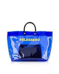 Blessed Blue Medium Tote Bag - DSquared2