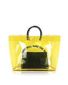 Love Will Save the Day Yellow Medium Tote Bag - DSquared2