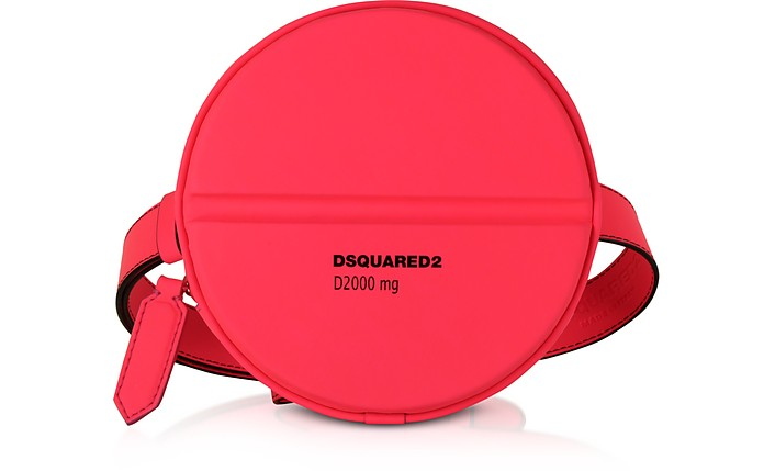 Neon Pink Gommato Leather Pill Crossbody/Belt Bag - DSquared