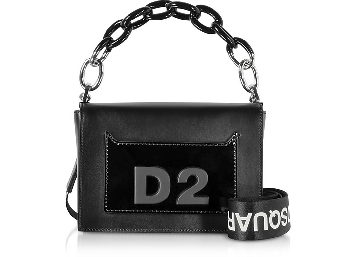 DD Small Smooth and Patent Leather Bag - DSquared2