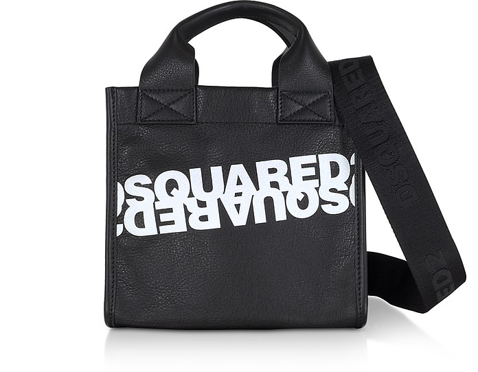 Dsquared2 Printed Calf Leather Small Tote Bag - DSquared2