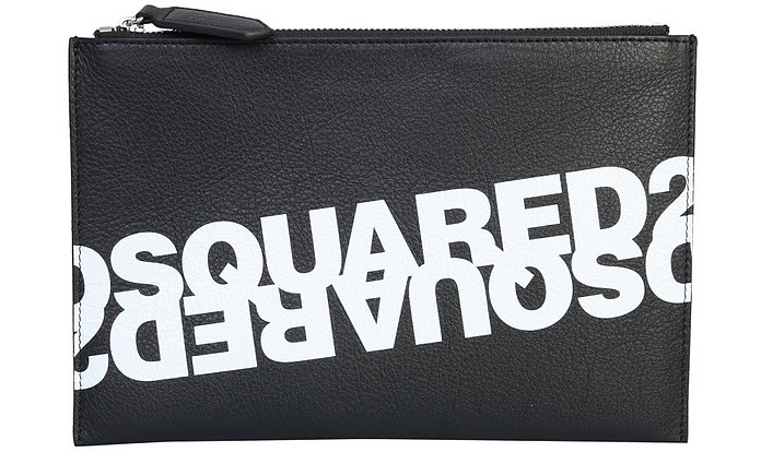 Pouch With Mirrored Logo - DSquared2