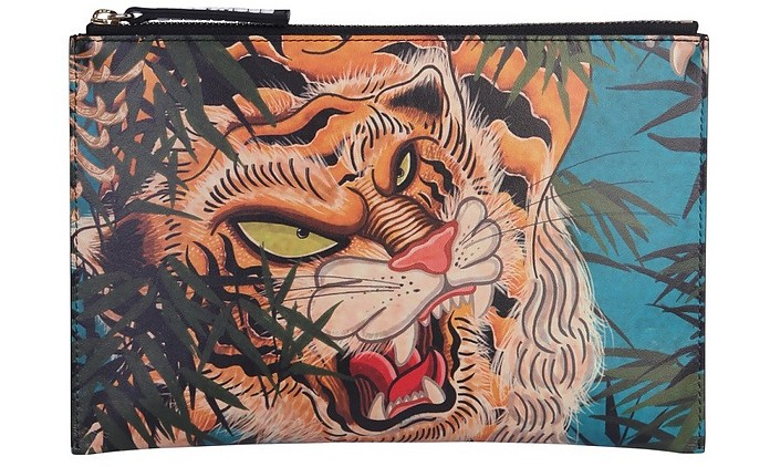 Tiger Print Pouch - DSquared2