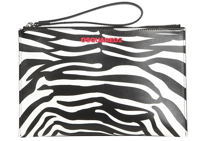 Pouch With Zebra Print - DSquared2