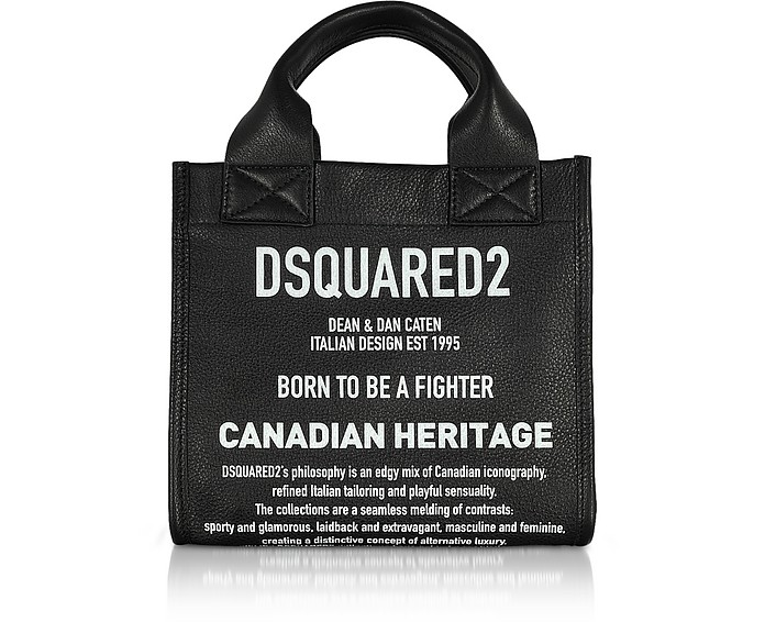 Signature Leather Small Tote Bag - DSquared