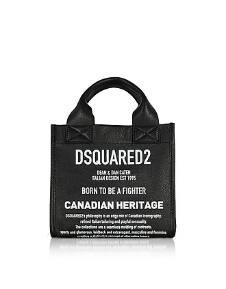 4f4714992093f0 Signature Leather Small Tote Bag - DSquared2