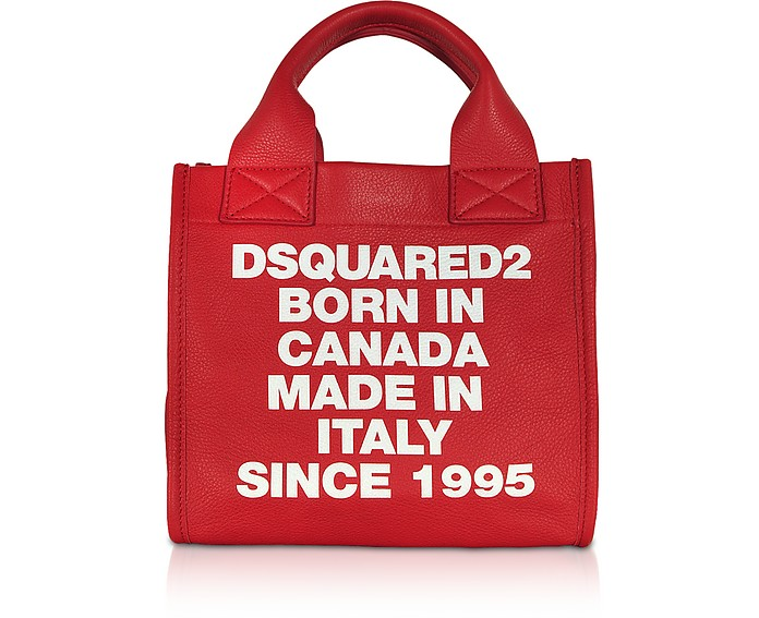 Signature Leather Small Tote Bag - DSquared2