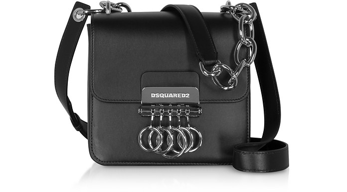 Canadiana Key Bag in Pelle Nera con Tracolla - DSquared2
