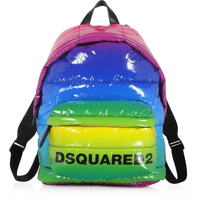 Rainbow Quilted Vinyl Backpack - DSquared2