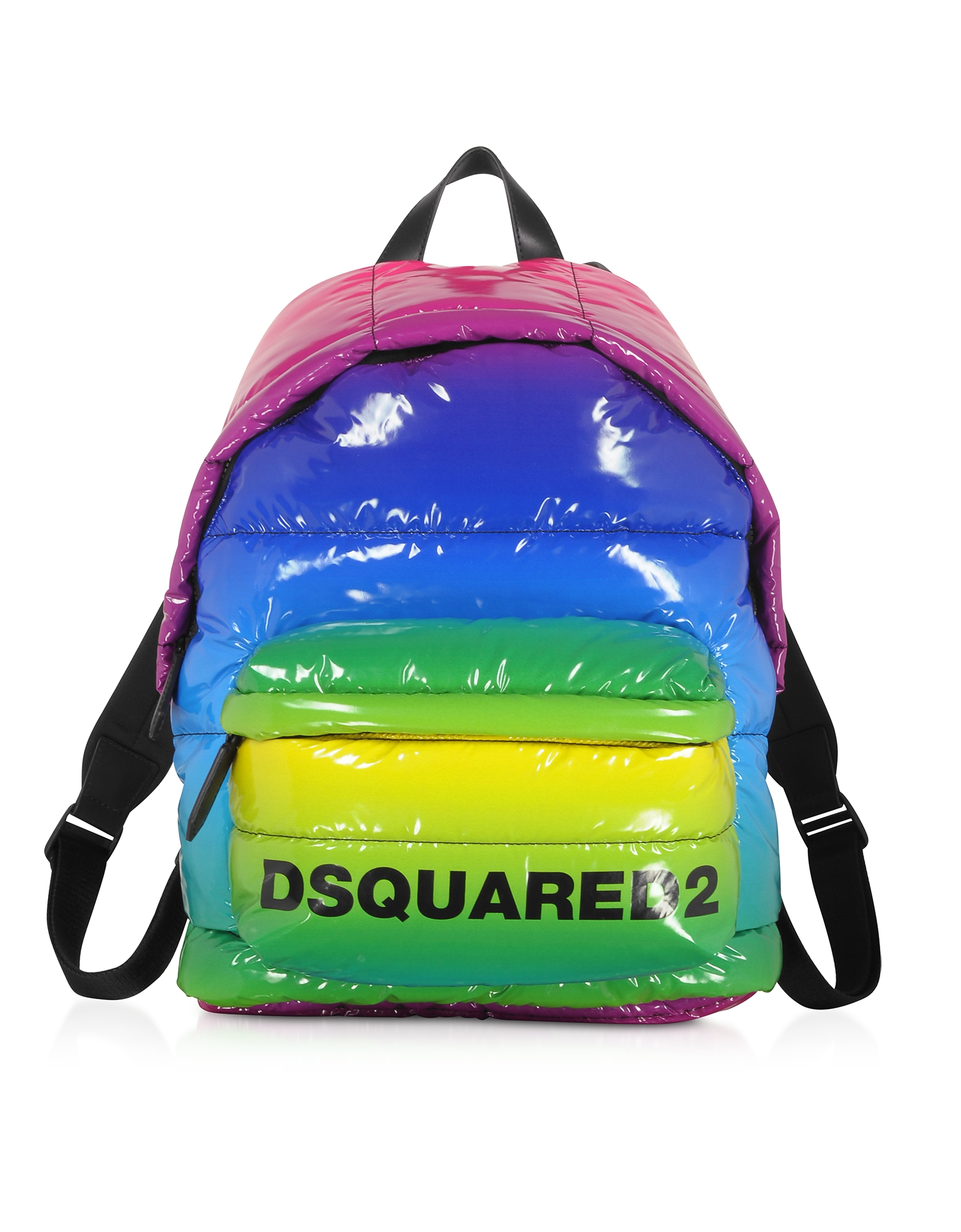 Dsquared2 RAINBOW QUILTED VINYL BACKPACK