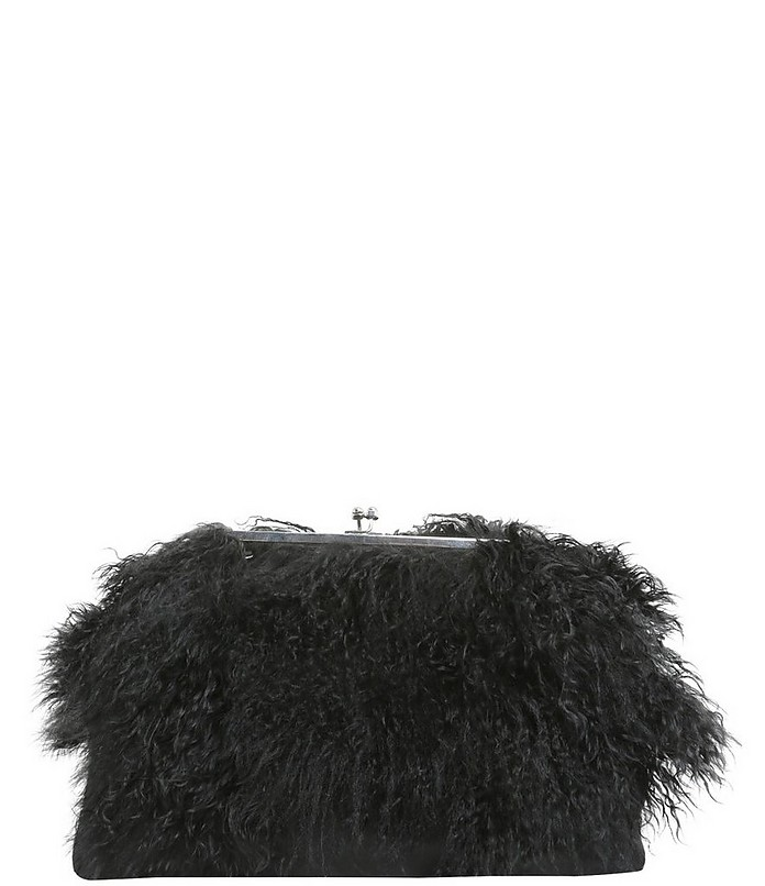 Clutch With Mongolian Fur Inserts - DSquared2