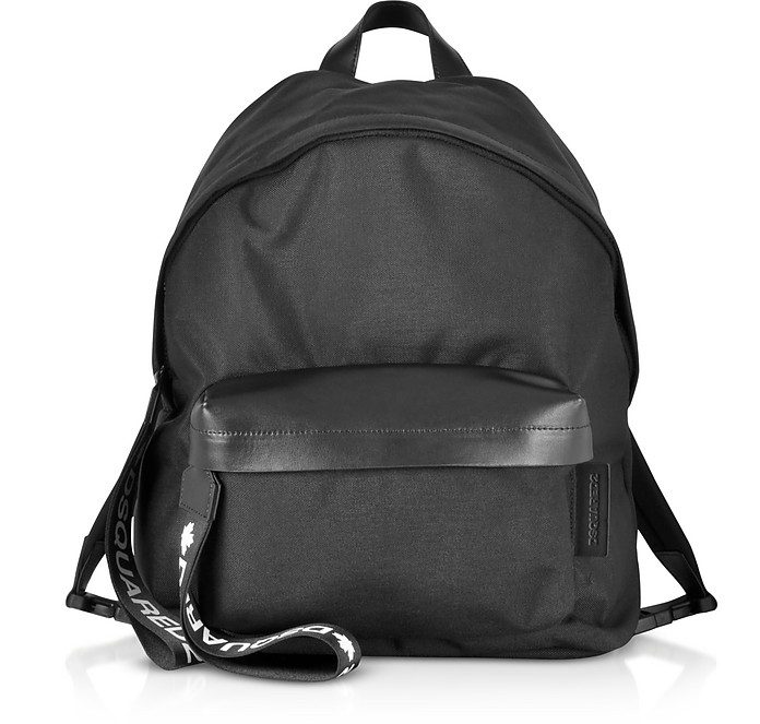 Black Nylon and Leather Signature Backpack - DSquared2