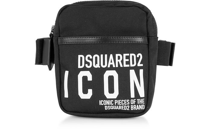 New Icon Black Nylon Vertical Belt Bag - DSquared2