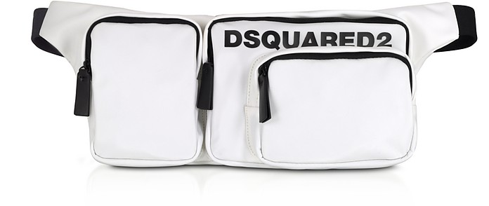 White Nylon Large Belt Bag - DSquared