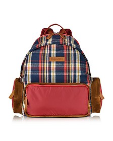 Tom Red and Blue Plaid Backpack