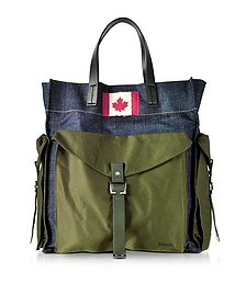 Military Chic Fabric and Denim Men's Tote Bag - DSquared