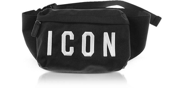 Icon Bag Sur Forzieri Black Men's Nylon Bum Dsquared2 SH4IrwSxq