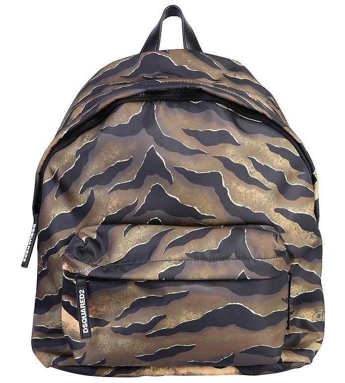 Tiger Print Backpack - DSquared2 / ディースクエアード2