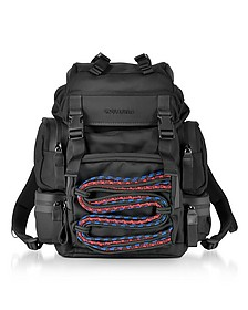 Akira Small Black Fabric Men's Backpack - DSquared2