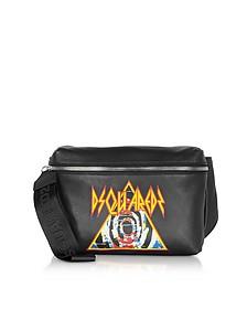 Black Belt Bag w/ Rock Print