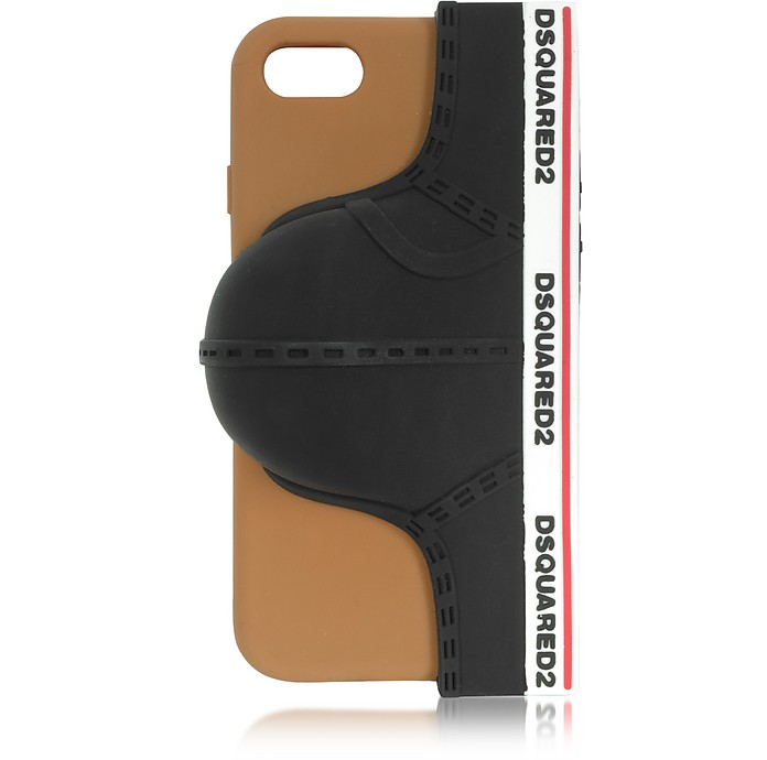 Black Silicone Signature iPhone 7 Cover w/Briefs - DSquared2