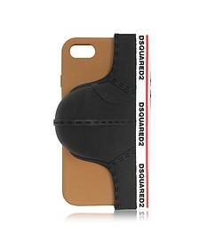 Black Silicone Signature iPhone 7 Cover w/Briefs - DSquared2