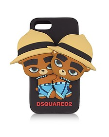 D2 Teddy Bears Cover per iPhone 7 in Silicone - DSquared2