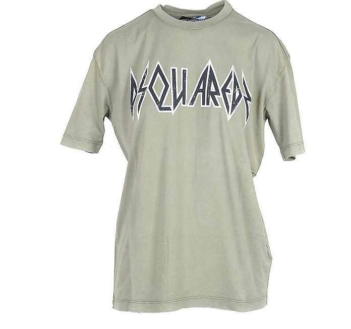 Women's Military Green T-Shirt - DSquared2 / ディースクエアード2