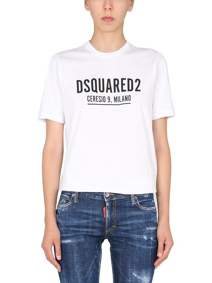 Renny Fit T-Shirt With Logo - DSquared
