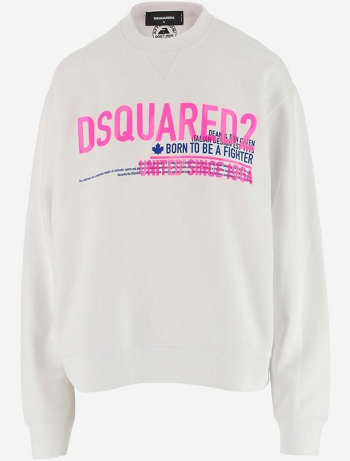 White Soft Cotton jersey Women's Sweatshirt - DSquared