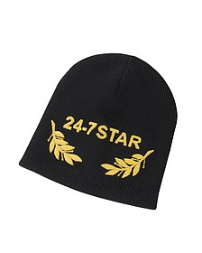 24-7 Star Icon Black Wool Beanie - DSquared2