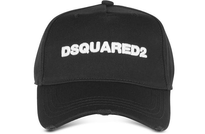 Embroidered Logo Gabardine Baseball Cap  - DSquared