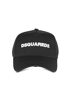 Embroidered Logo Gabardine Baseball Cap  - DSquared2