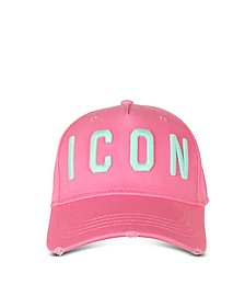Embroidered Icon Logo Gabardine Baseball Cap - DSquared2