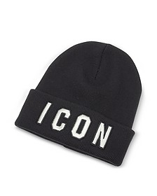 Embroidered Logo Wool Beanie  - DSquared2