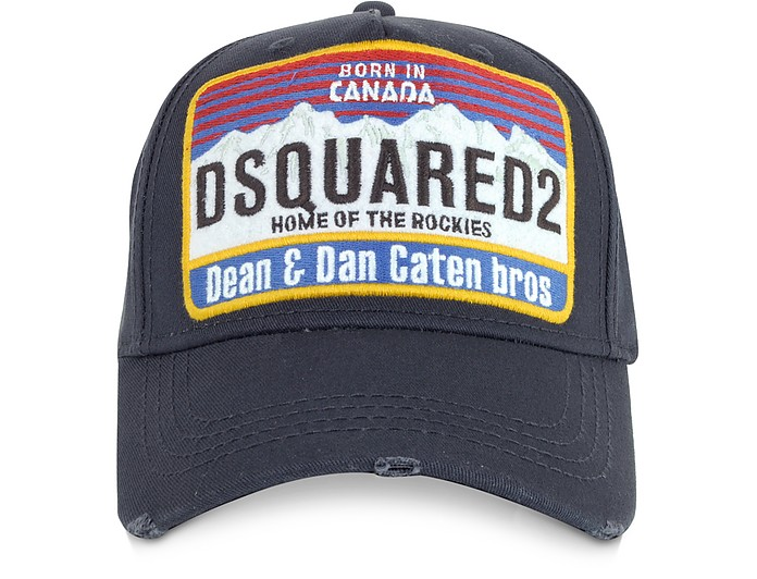 398f865721285 DSquared2 Logo Patch Cotton Baseball Hat at FORZIERI