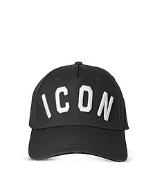 Black Icon Embroidered Baseball Cap  - DSquared