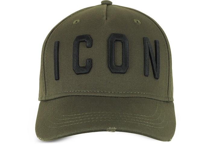Embroidered Icon Logo Cotton Gabardine Baseball Cap - DSquared2