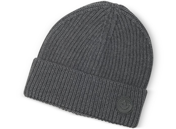Solid Wool Knit Hat - DSquared