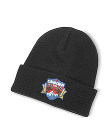 Canadian Patch Black Wool Knit Hat - DSquared2